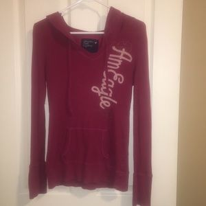 LARGE AMERICAN EAGLE RED PULLOVER HOODIE